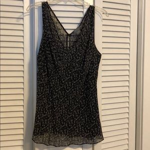 Ann Taylor sleeveless blouse with built in liner